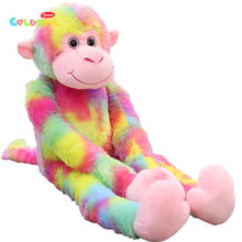 1 шт 80 см мультяшная супермягкая Радужная обезьяна плюшевая