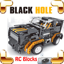 New Idea Gift 8001 Black Hole 4 CH RC Big Blocks Truck Car Model Electric Vehicle Build DIY Toys Race Cars Large Road Crash Game