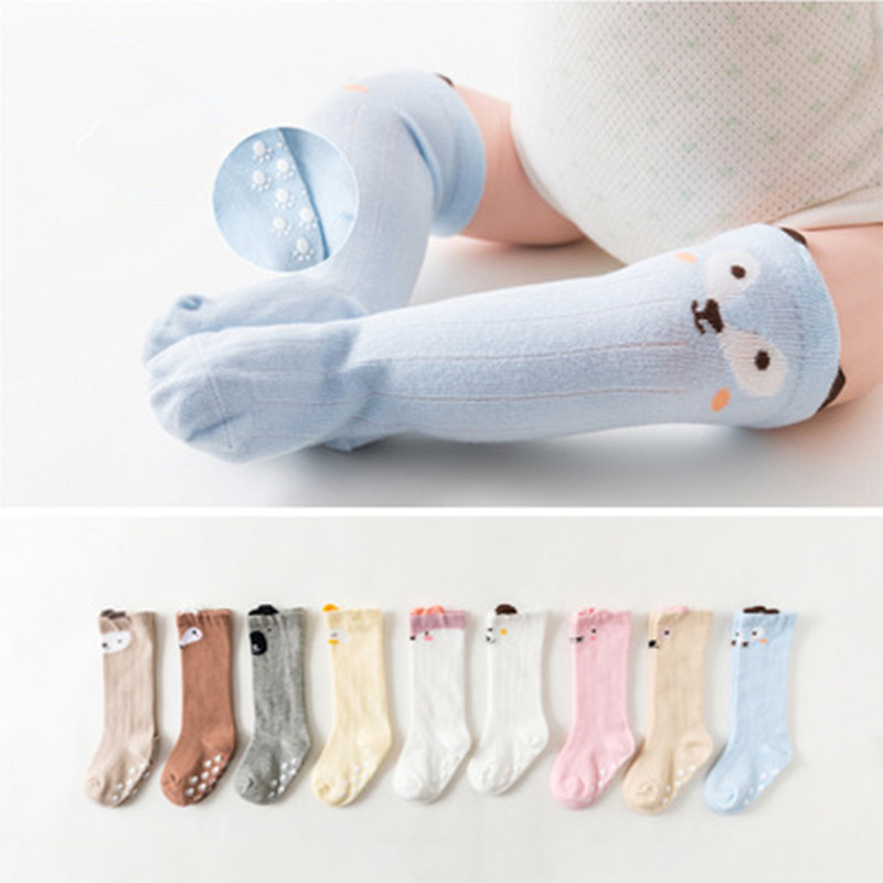 Baby Long <font><b>Socks</b></font> Anti Slip <font><b>Socks</b></font> Soft Cotton Knee High <font><b>Sock</b></font> Newborn Infant Cute <font><b>Animal</b></font> <font><b>Sock</b></font> <font><b>Unisex</b></font> 0-3Y image