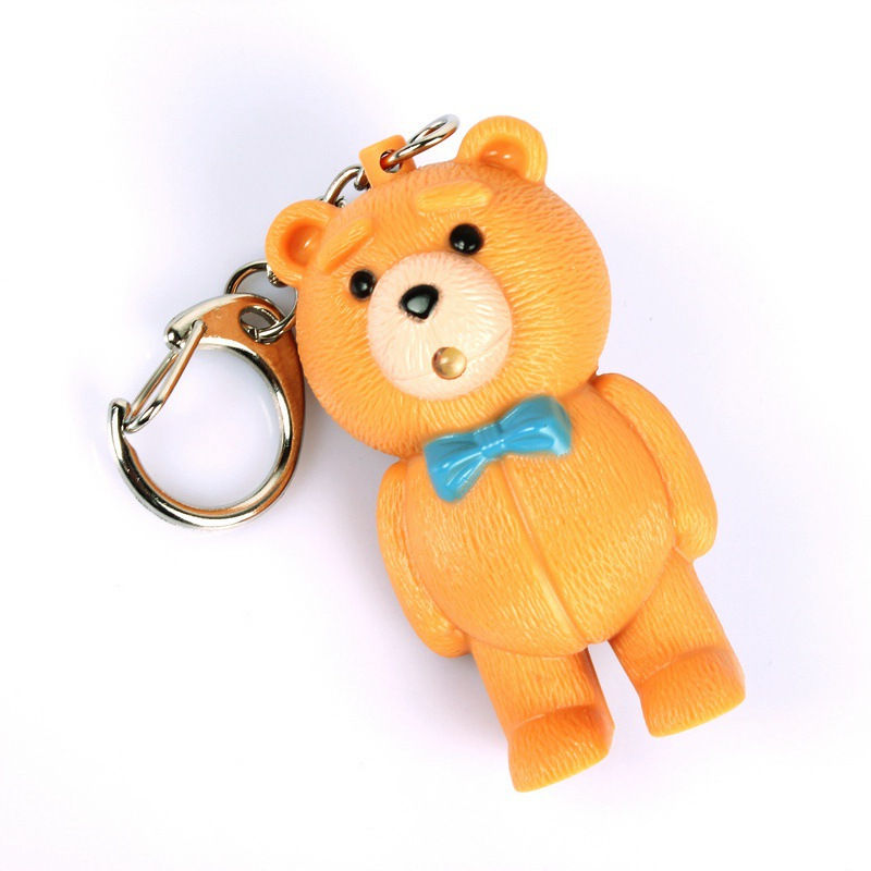 Ditai bear font b led b font sound light key chain font b flashlights b font