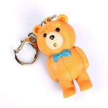 Ditai bear led sound light key chain flashlights sound rings toys cute Ditai bear keychains gift pendant birthday kids jewelry