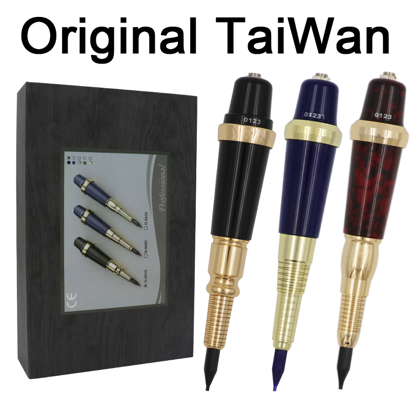 Pro Original Taiwan G-9410 Permanent MakeUp Tattoo Machine Pen Eyebrows Forever Make Up GS Microblading Tattoo Kit With Needles цена 2017