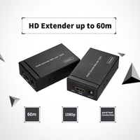 HD Extender UTP CAT5e/CAT6 Cable Extend HD Audio/Video Transmission Up To 60m/196ft Over Single Up To 60m
