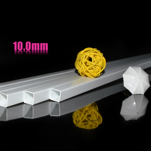 50pcs 10*10mm Square tube ABS Plastic pipe JYG-10 50cm length