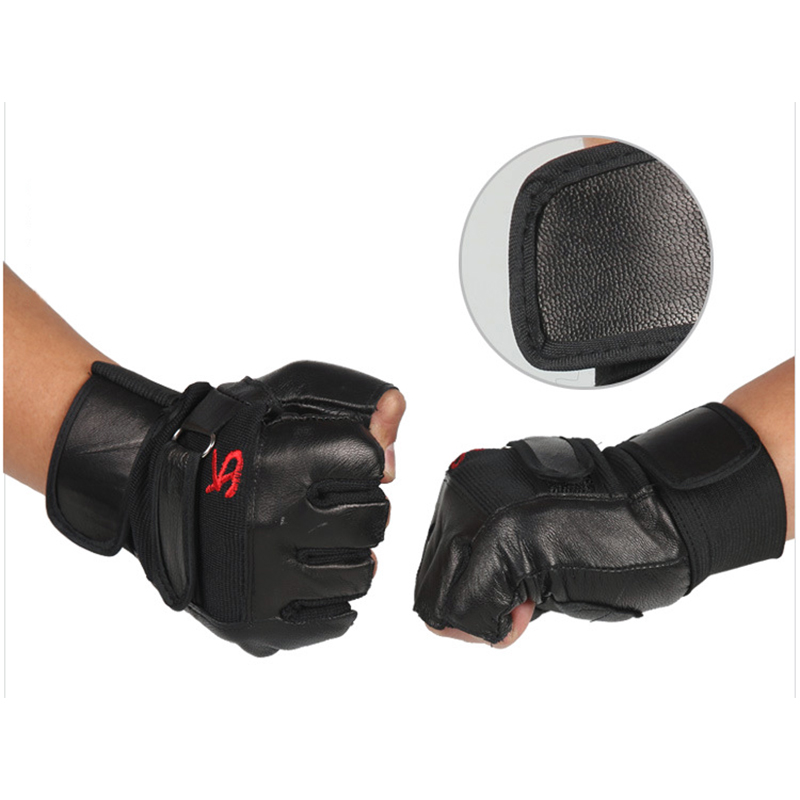 Men Weight Lifting Gym Gloves Workout Wrist Wrap Sport Exercise Training Fitness