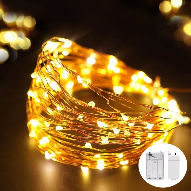 Christmas Lights Indoor 20 / 50 Leds 2M 5M LED String Copper Wire ...