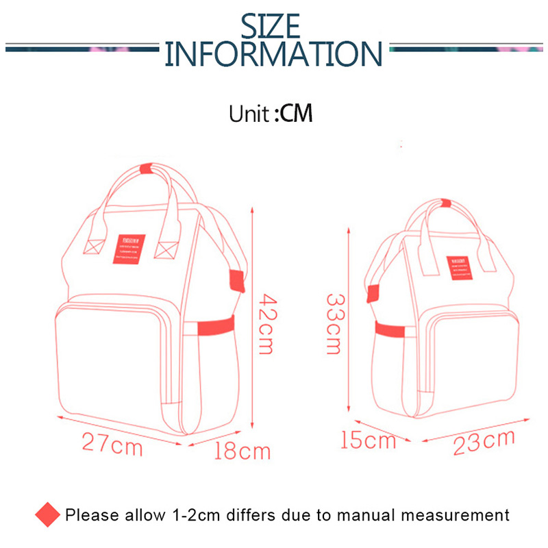 Baby Diaper Bag Organizer Mummy Maternity Backpack Nappy Changing Bags Waterproof Nursing Bag Wet Bag For Baby Stroller
