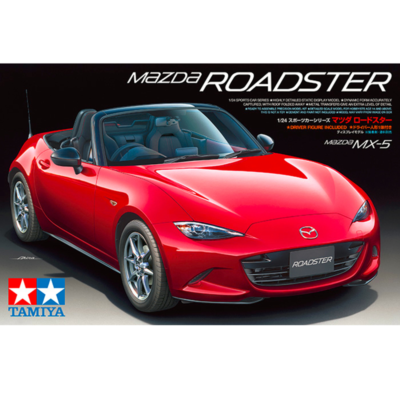 24342 1/24 Scale Plastic Model Car Kit Mzd New MX-5 Roadster  (Miata) Sport Car Kit  plastic model kit model hobby hasegawa model 1 24 scale civil models 20263 focus rs wrc 04 plastic model kit