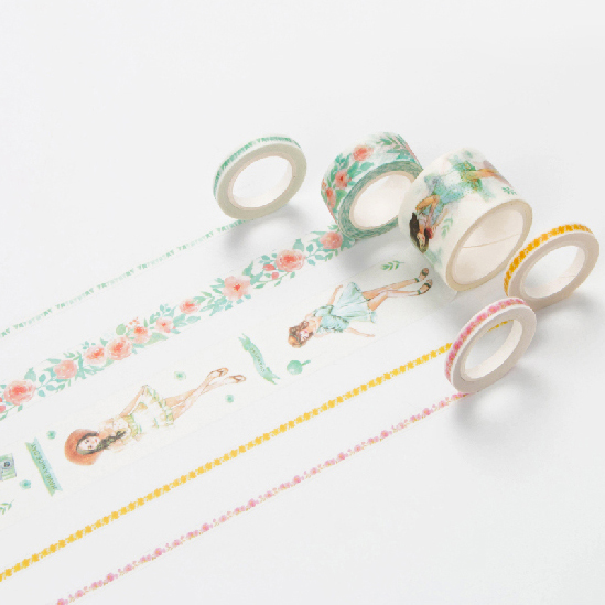 Sunshine Girls Washi Tape Masking Decorative Tapes DIY Scrapbooking Sticker Label Tape Japanese Stationery
