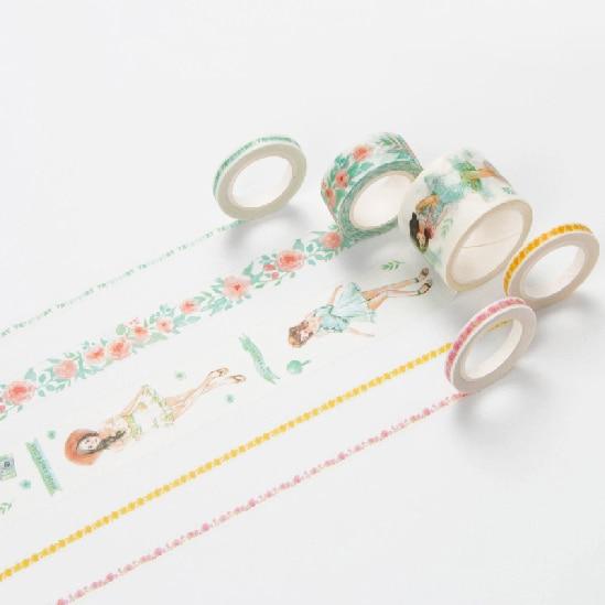 Sunshine Girls Washi Tape Masking Decorative Tapes DIY Scrapbooking Sticker Label Tape Japanese Stationery