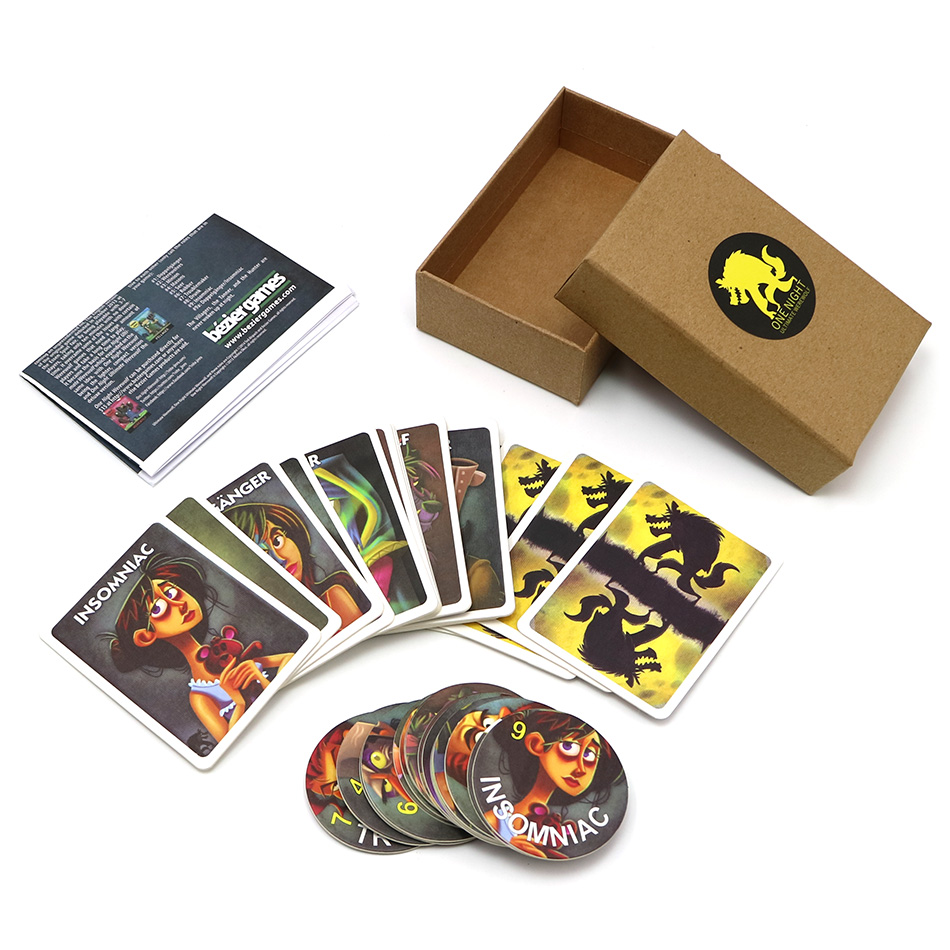 Full English Version Werewolves Card Games For Kids Adult One Night Ultimate Family Party Board Game