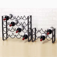 1 PCS (Without bottles and cups) Red wine rack wine stand wine bar bottle iron art European Hall LM2211428