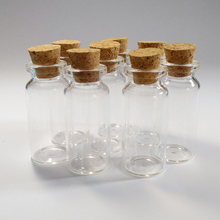 100pcs/lot 10ml glass vials 22*50*12.5mm diameter 22mm Wishing bottles with cork Transparent Home decoration crafts