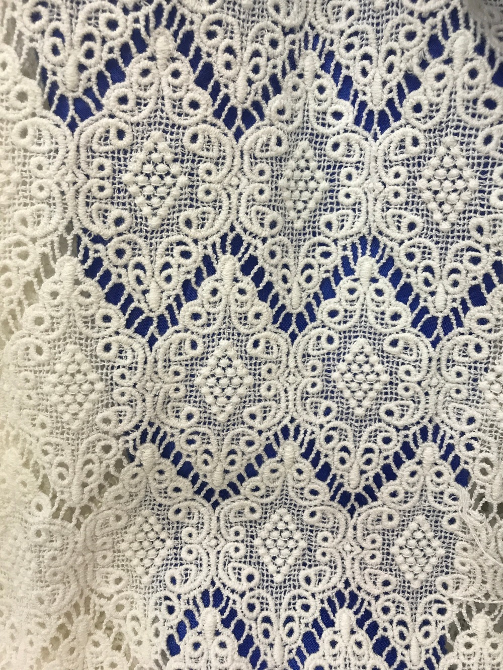 OFF white lace fabric,Exquisite retro daisy bridal crochet lace fabric ,Water soluble cotton lace fabric 5yards