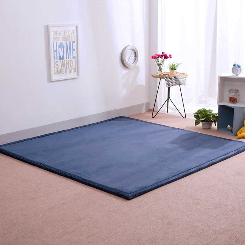 Infant Shining 2CM Thick Mats Rectangle Carpet 3 Sizes Rugs Coral Fleece Blanket Living Room Tatami Mat Bedroom Tea Table Rug