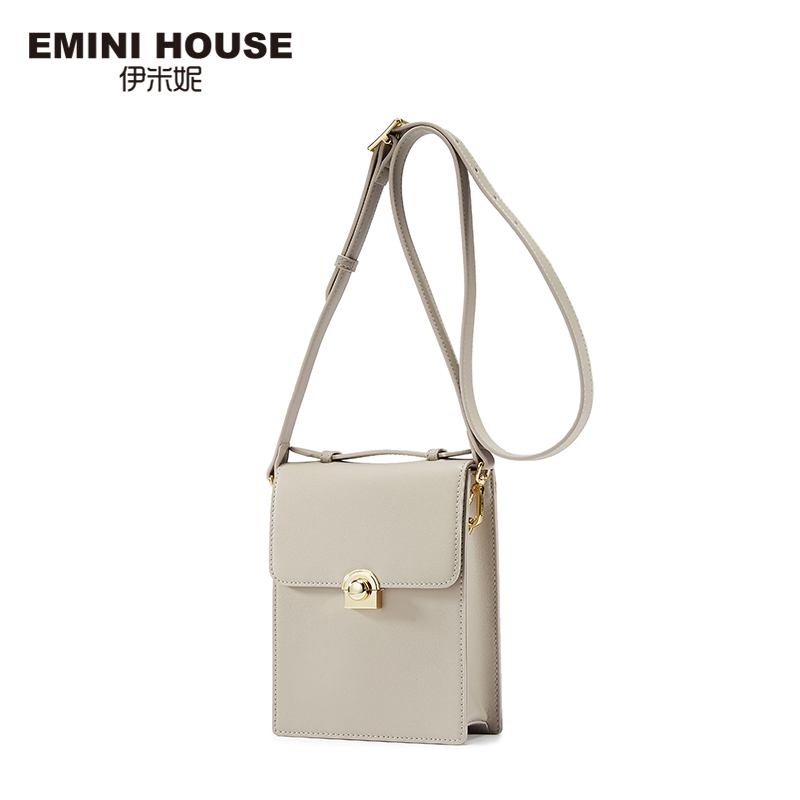 EMINI HOUSE Fashion Flap Padlock Bag Split Leather Crossbody Bags For Women Mini Shoulder Bag Women Leather Handbags Phone Bags 2017 fashion all match retro split leather women bag top grade small shoulder bags multilayer mini chain women messenger bags