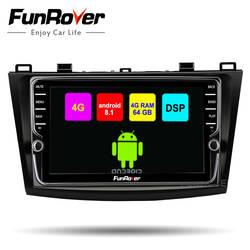 Funrover android 8,1 2 din Автомобильный мультимедийный плеер для Mazda 3 Axela 2011-2015 радио gps навигационная лента рекордер стерео DSP 4 GSIM