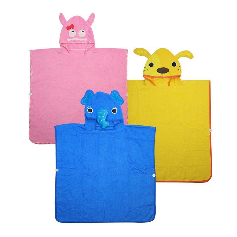 New Kids Towel Toddler 100% Cotton Bathrobe Baby Boys Girls Animal Hooded Bath Towel Children Towel Mi092101 Towels