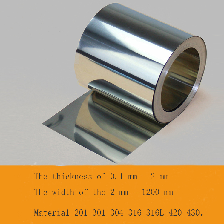 Stainless steel sheet spring stainless steel foil strip of 0.1mm or 0.2mm can be customized weldability of ferritic stainless steel
