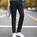 Фитнес брюки мужские повседневные брюки хлопок стройная длинный тощий бегунов брюки Chandal мужчины повседневные брюки