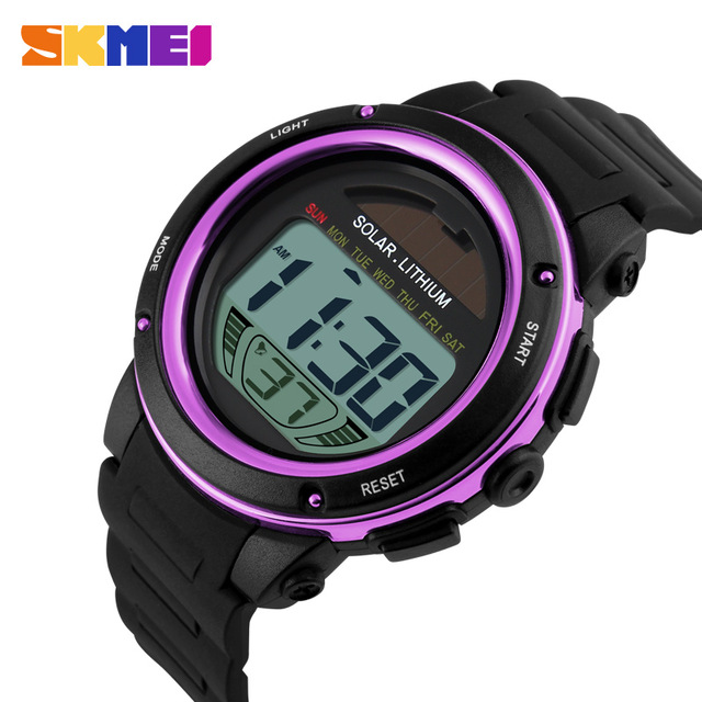 2019 Solar Energy Watch Digital Watches Men Led Solar Male Clock Men Military Wristwatches Quartz Sports Watch Relogio Masculino