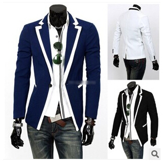 71ee0ba66431a Nueva llegada 2015 traje de chaqueta para hombre Casual un botón Slim Fit  adapta a la