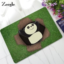 Zeegle Panda Door Mat Outdoor Rugs Welcome Mats Non-slip Kitchen Rug Kids Room Carpets Bedroom Floor Mats Soft Foot Pad(China)