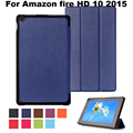 Magnet stand PU Leather Case Cover For Amazon Fire HD 10 2015 10 inch tablet cover case for fire hd 10 case + screen protectors
