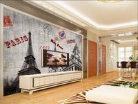 3d wallpaper ảnh hình nền tùy chỉnh phòng khách bức tranh tường nổi tiếng thế giới thành phố dấu hiệu 3d sơn TV nền hình nền cho bức tường 3d