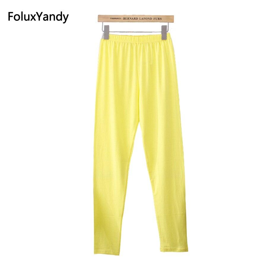 10 Renkler Kadın Tayt Artı Boyutu 3 4 XL Ince Ince Elastik Sıska - Bayan Giyimi - Fotoğraf 2