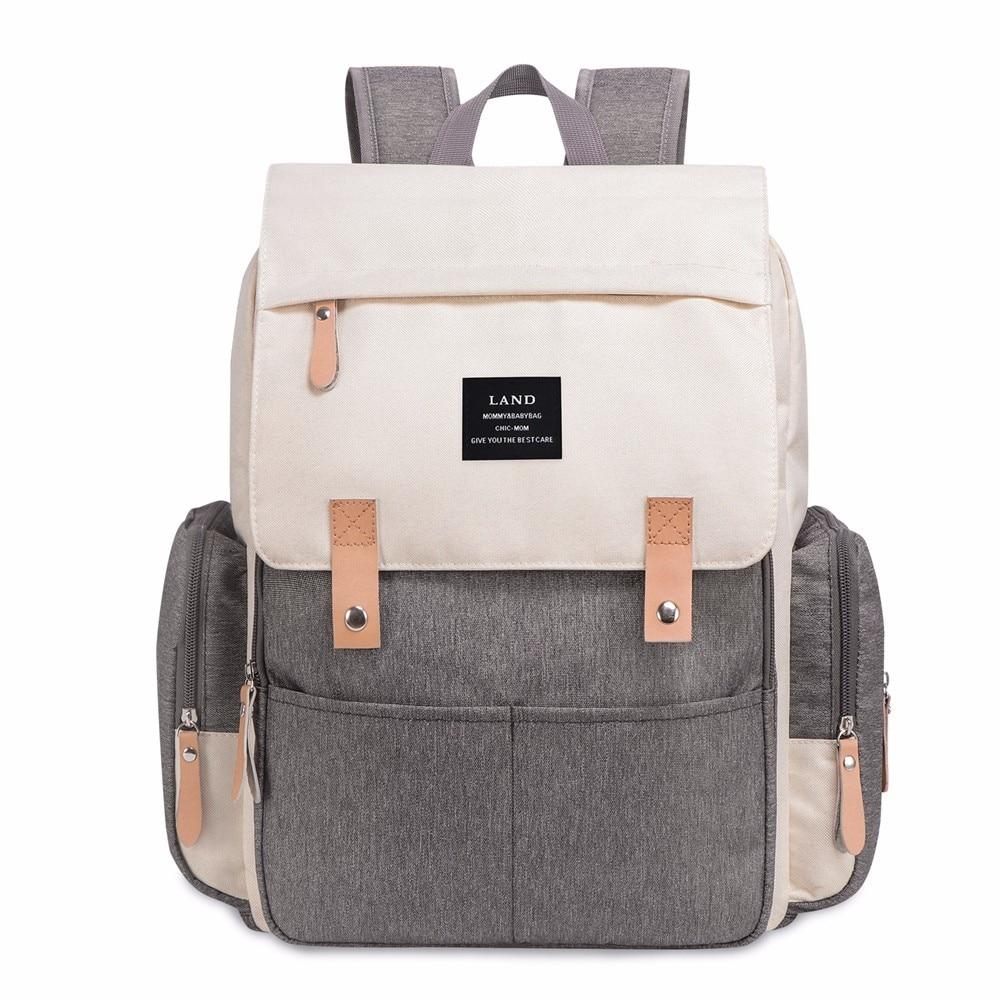 HTB14q9absfrK1Rjy1Xdq6yemFXaH LAND New Baby Diaper Bag Fashion Mummy Maternity Nappy Bag Large Capacity Baby Bag Travel Backpack Designer Nursing Bag