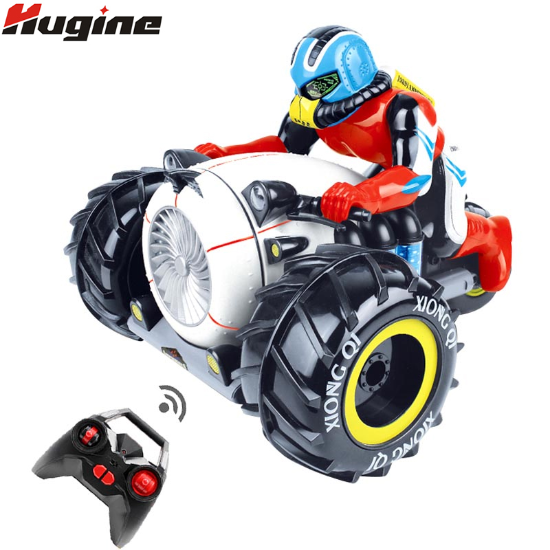 RC Car Dirt Bike Rock Crawler 2.4G Amphibious Radio Control Motorcycle Stunt Racing Vehicle Model Light Electric Hobby Toys radio-controlled car
