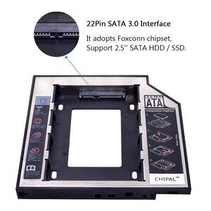 Универсальный жесткий диск CHIPAL SATA 3,0, корпус для второго жесткого диска 12,7 мм, 2,5 дюйма, 2 ТБ, чехол для SSD, корпус для жесткого диска + Светодиодный индикатор для ноутбука, CD-ROM, нечетный