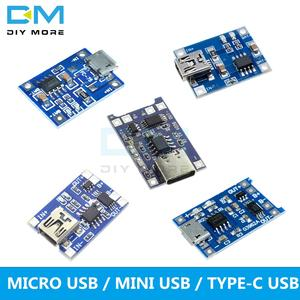 Lithium-Battery-Charging-Board Charger-Module Protection TC4056A Micro/mini-Usb 18650