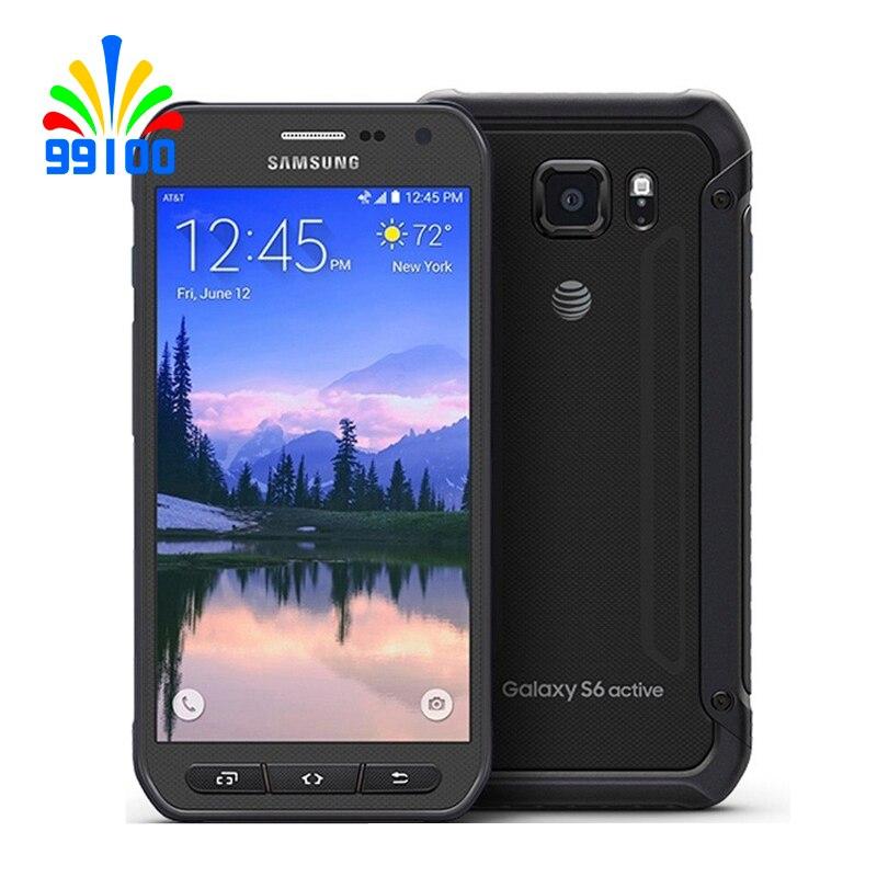 Восстановленный сотовый телефон Samsung Galaxy S6 Active/G890A Восьмиядерный Android 5,0 3 ГБ + 32 Гб Камера 16 МП 5,1 дюйма разблокированный телефон WiFi