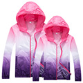 Primavera verão ao ar livre Jacket mulheres homens Camping jaqueta impermeável respirável UV casal chuva à prova de vento jaqueta Quick Dry
