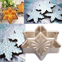 Không dính Snowflake Bánh Bun Pan Bánh Mì Nhà Bếp Khuôn Bakeware Khuôn Bánh 12.22