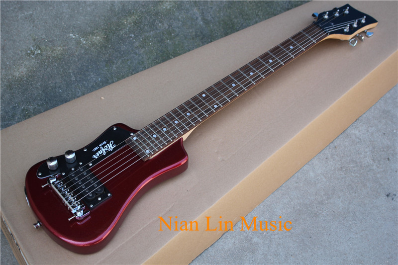 6-String Electric Guitar,Child Style,Claret-red Color Body with 1 Open Pickups,24 Frets and can be Customized(China)