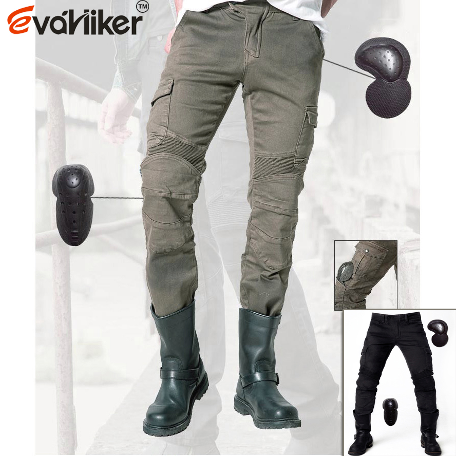 2018 High quality shorts Locomotive jeans With knee protector Rider pants CE Gear Motorcycle Shorts Leisure Cultivate Jeans