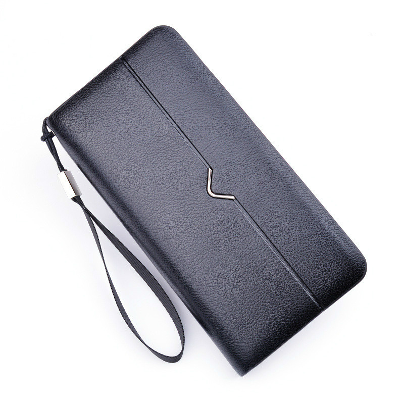 Foofum 2017 New Brand Men Wallets Long Women Purse Wallet Male Clutch Pu Leather Business Coin Wristlet Bag Black Brown Color