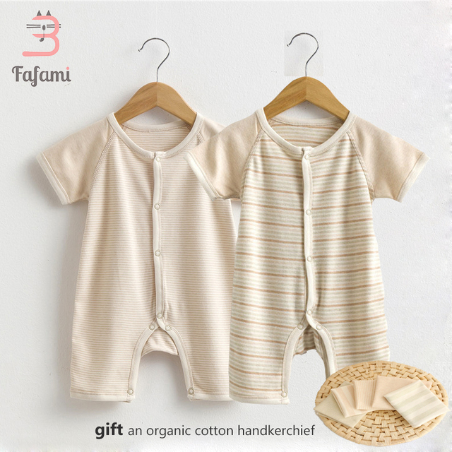eec025eea7683 US $9.21 53% OFF|Rompers Baby Clothes for Newborn Organic Tiny Cottons Baby  Costume Lucky Child Baby boy girl clothing romper jumpsuit new born-in ...