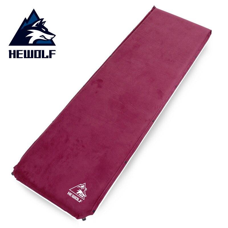 Hewolf 1407 à usage unique 200*63*6.5 cm épaississement automatique tapis gonflable matelas à Air épissé tapis de Camping étanche à l'humidité