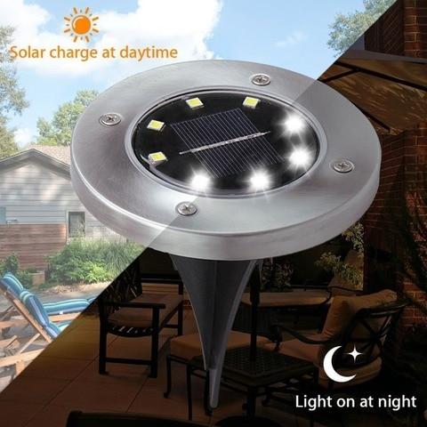 de energia solar enterrado luz a terra