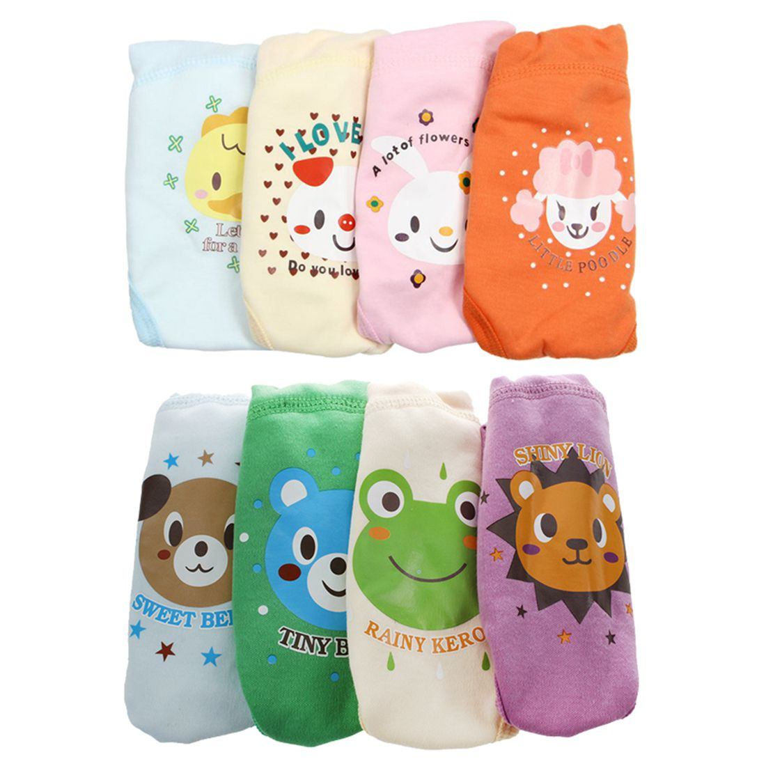 HOT SALE 4 X Baby Toddler Girls Boys Cute 4 Layers Waterproof Potty Training Pants reusable 6-12m