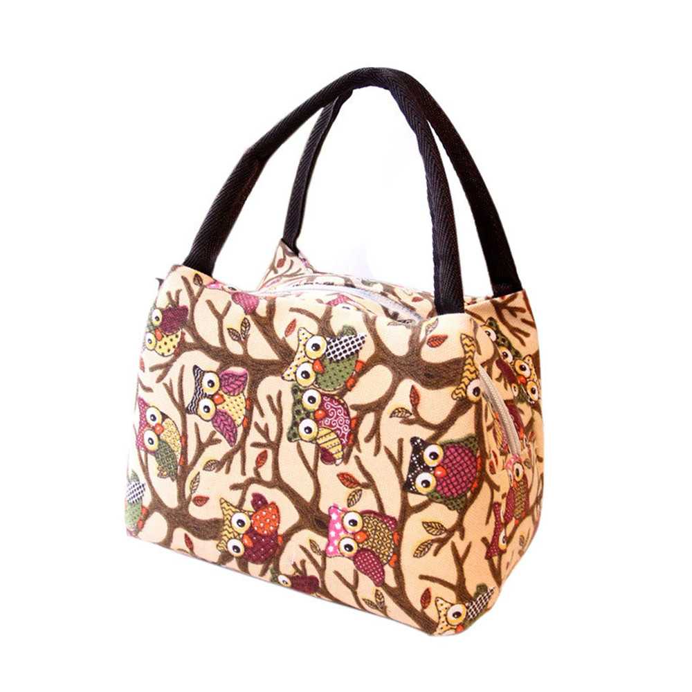 Women Tote Picnic Lunch Cool Oxford fabric Bag Cooler Box Lunch Handbag Pouch