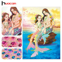 Huacan Special Shaped Diamond Embroidery Portrait DIY 5D Diamond Painting Cross Stitch Mother And Son 3D