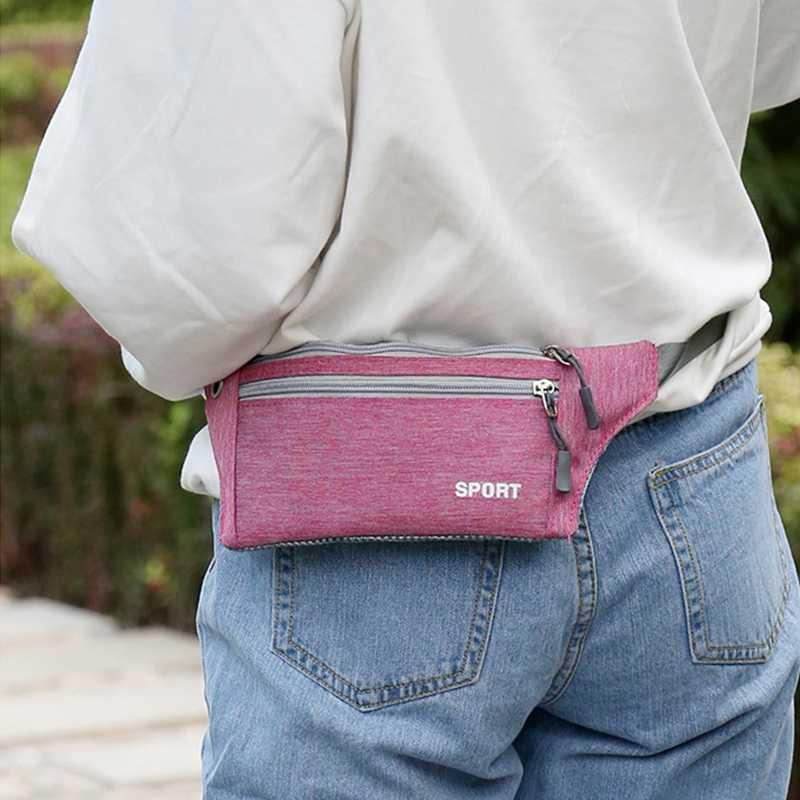 男性女性カジュアルウエストパックユニセックスファニーウエストバッグクロスボディ胸パックベルトジップハイキングポーチ財布