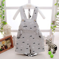 Summer Cotton Baby Car Print Infant Kids Overalls Casual Boys Shorts roupas de bebe