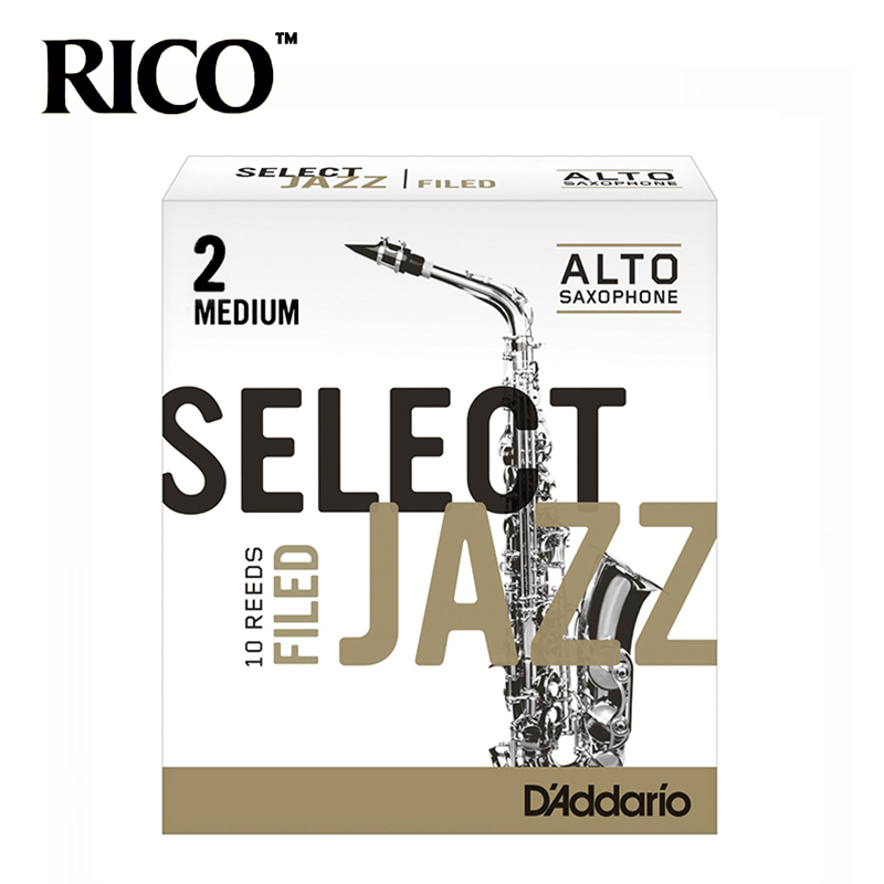 RICO Select Jazz Alto Sax Reeds / Saxophone Alto Eb Reeds, Filed, Strength 2M/2H/3S, 10-pack [Free shipping] alto saxophone instrument 54 french selmer sax alto profissional bronze perfect sound quality free shipping