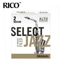 RICO Select Jazz Alto Sax Reeds Saxophone Alto Eb Reeds Filed Strength 2 Strength Medium 10